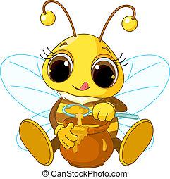 miel, manger, mignon, abeille