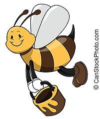 miel, tenue, abeille