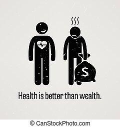 mieux, santé, que, richesse