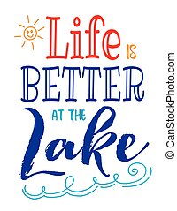 mieux, vie, lac