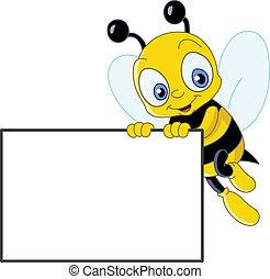 mignon, abeille, signe