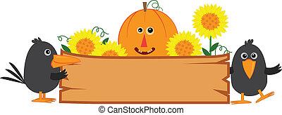 mignon, automne, signe