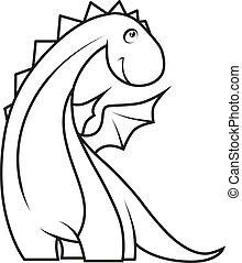 mignon, book:, coloration, peu, dragon