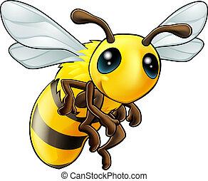 mignon, caractère, abeille