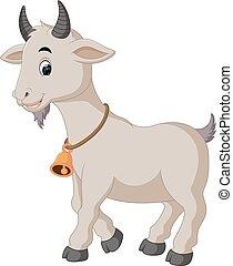 mignon, chèvre, dessin animé