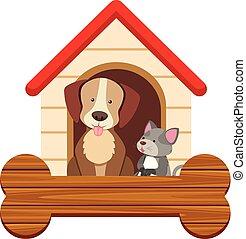 mignon, chien, chat, pethouse, gabarit, bannière