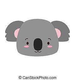 mignon, dessin animé, animal