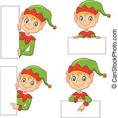 mignon, elfe, dessin animé, vide
