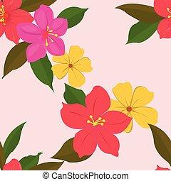 mignon, fleur, fond, vendange, seamles, modèle