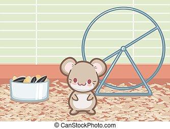 mignon, hamster