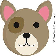 mignon, illustration., couleur, queue, chien, long, vecteur, ou