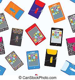 mignon, mobile, modèle, seamless, téléphone, conception