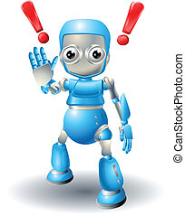 mignon, prudence, robot, caractère