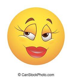 mignon, smiley, femme, heureux