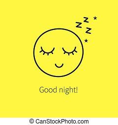 mignon, smiley, heureux, dormir