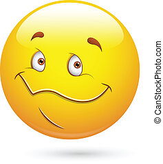 mignon, smiley, visage heureux