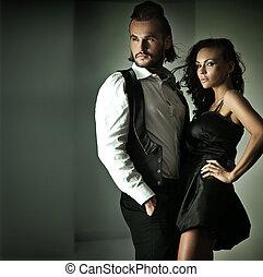 mignon, style, mode, couple, photo