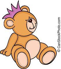 mignon, teddy, couronne, ours, séance