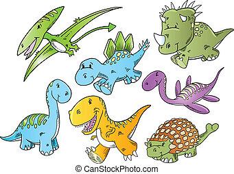 mignon, vecteur, animal, dinosaure