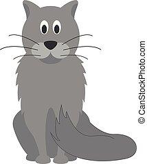 mignon, vecteur, dessin animé, illustration, chat