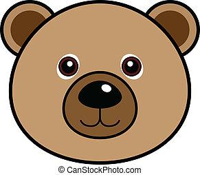 mignon, vecteur, ours