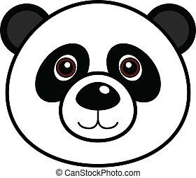 mignon, vecteur, panda