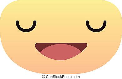 mignon, visage smiley