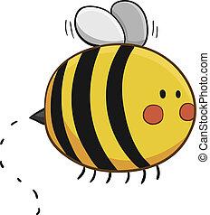 mignon, voler, abeille