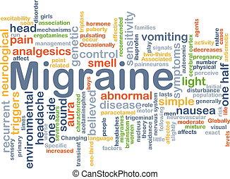 migraine, concept, fond