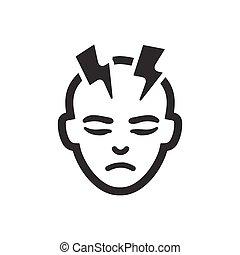 migraine, icône