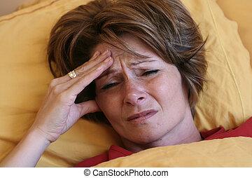 migraine, lit