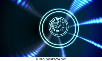 milieu noir, bleu, vortex, conception