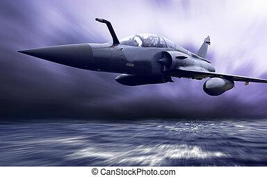militaire, airplan, vitesse