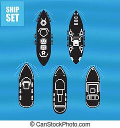 militaire, bateaux, civil