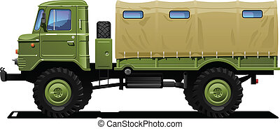 militaire, camion