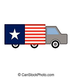 militaire, drapeau, camion, usa