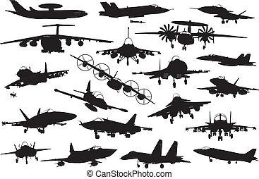 militaire, ensemble, avions