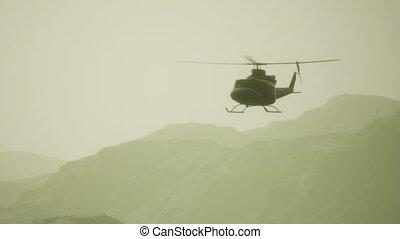militaire, etats, lent, vietnam, hélicoptère, uni, mouvement