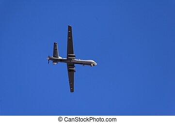militaire, reconnaissance, vol, avion, démonstration