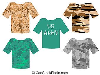 militaire, t-shirts