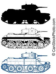 militaire, vecteur, réservoir