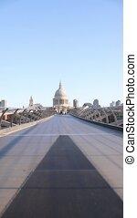 millénaire, regarder, centre, pauls, pont, saint, cathédrale