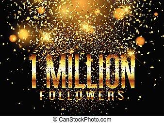 million, 0807, une, disciples, fond, confetti, célébration