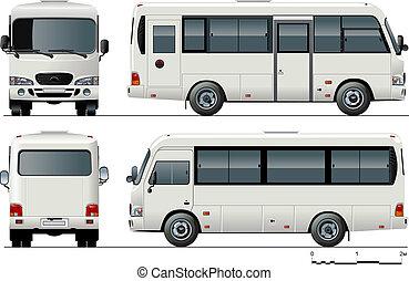 mini-bus, urbain, passager
