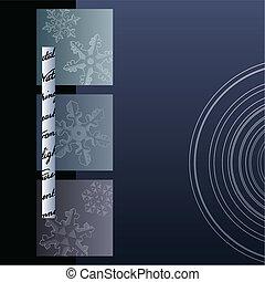 minimaliste, hiver, fond