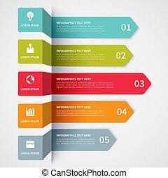 minimalistic, moderne, bannière, infographics