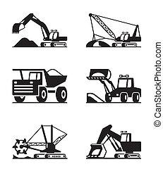 minning, matériel construction