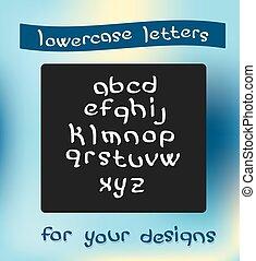 minuscule, vecteur, lettres