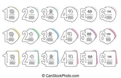 minuteur, horloge, sûr, humeur, signs., set., vecteur, loyauté, temps, education, icônes, bon, points