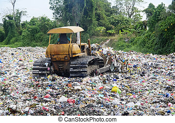 mise en décharge, déchets